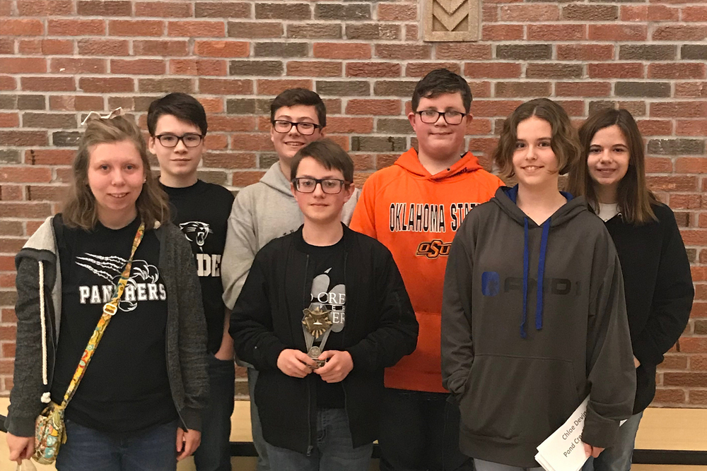 MS Academic Team Places 2nd at Regional Tournament